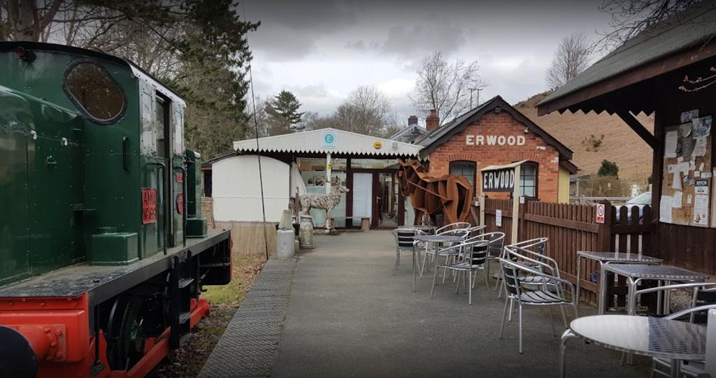 Entrance to Erwood Station